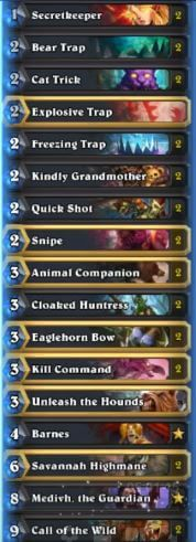 kolento secret hunter w medivh post call of the wild nerf deck