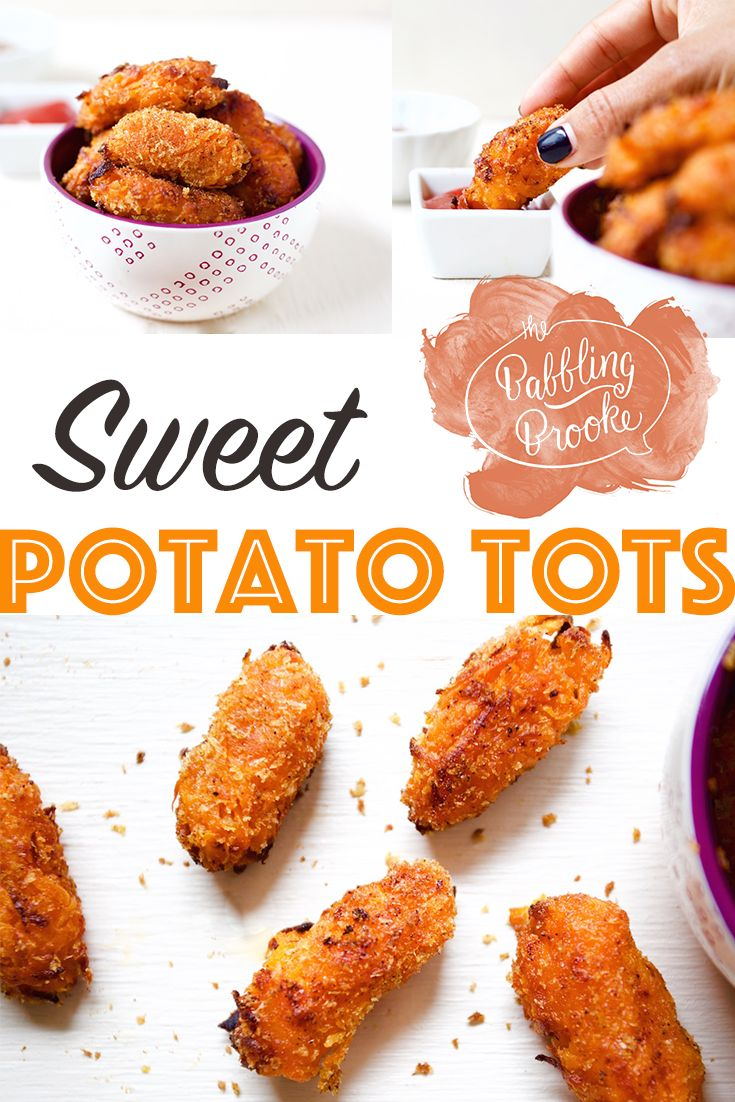 These sweet potato tots are so good. You won't miss the regular potatoes in this recipe at all!  #recipe #healthy