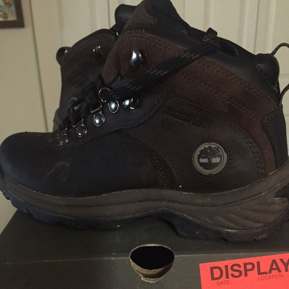 Timberland hiking boots! Waterproof hiking boots. Worn once. Too small for me. Timberland Shoes Winter & Rain Boots