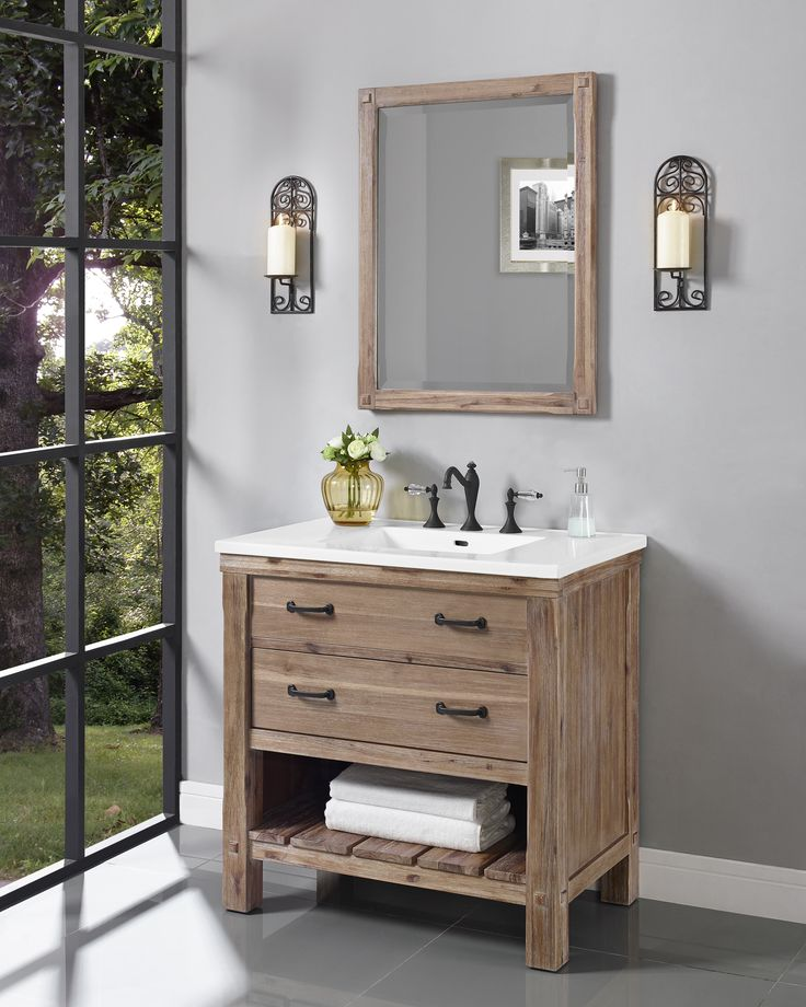 fairmont 1506vh36 napa 36 inch open shelf vanity - Fairmont Vanities