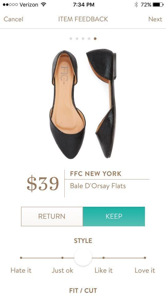 FFC NEW YORK Bale D'Orsay Flats from Stitch Fix.   https://www.stitchfix.com/referral/4292370