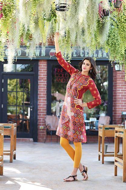 Spring Summer Dresses By Nishat Linen 2014 For Women