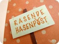 Rasende Hasenpost, Ostern - Stempel - PeppAuf.de
