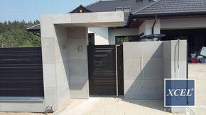 nowoczesne ogrodzenie z betonu architektonicznego cubero horizon xcel