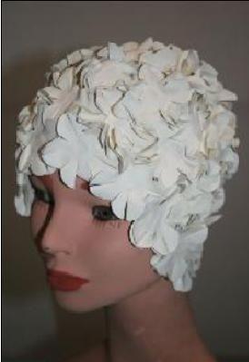 CUFFIA FLOWER BIANCO
