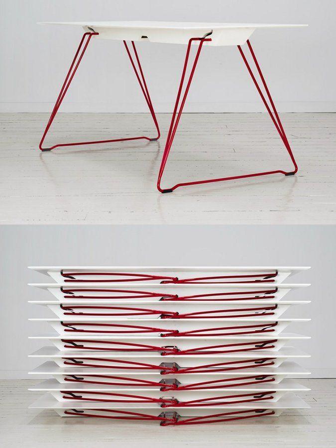 Folding #table LUCY by Johanson Design   #design Alexander Lervik