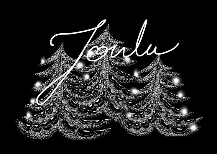 Christmas Trees. Drawing design by Hammi´s Design.