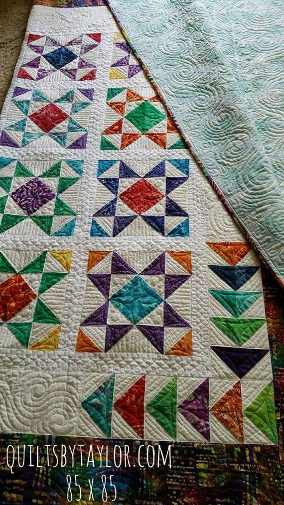 Homemade Quilts For Sale >> Quilt For Sale Finished Quilt Modern Quilt Homemade Quilt 80 X