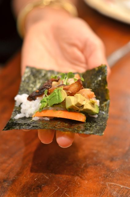 Miso Cod Hand Rolls « Putney Farm | FoodFOODfood | Pinterest
