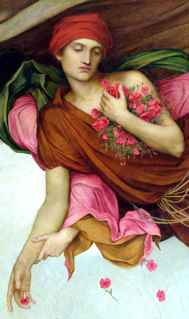 Night and Sleep, painting by Evelyn De Morgan (detail)