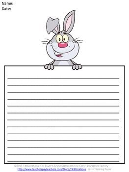 005 Easter Writing Your students will love writing on this