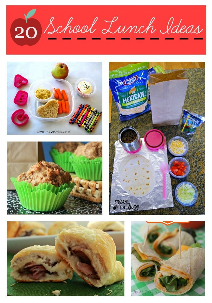 20 School Lunch Ideas - Enough to get you through a month of school. Lots of nut free options. #foodie #sponsored