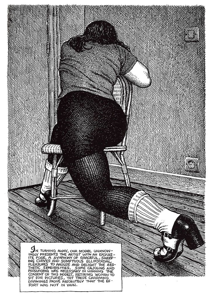 "Robert CRUMB - from ART & BEAUTY MAGAZINE #2 - 2003 - Fantagraphics Books, Washington U.S.A. ""…symphony of graceful…"""