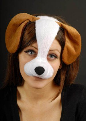Dog Mask On Headband pretty sure Kylee would freak out over this!