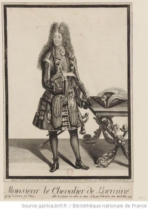 Philippe de Lorraine-Armagnac, chevalier de Lorraine, (1643-1702), longtime, manipulative lover of Philippe de France, duc d'Orleans, Monsieur, 17th century engraving, French school.