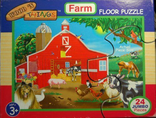 Wood 'N Things Farm Floor Puzzle 24 Pcs 2x3 Feet by Wood-N-Things. $11.44. 2 x 3 Feet. 24 Extra Large Pieces. Farm Scene. Jumbo Floor Puzzle. This is a high quality 24 piece jumbo floor puzzle for kids 3mos to 4 yrs. Farm Scene. 2x3 feet complete.