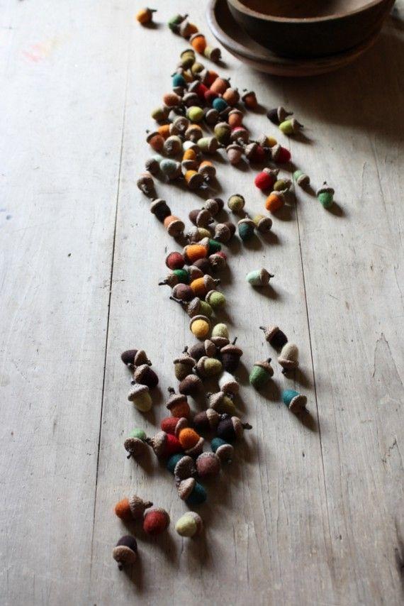 acorns . .
