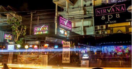 Seminyak, Bali - Jl. Kayu Aya: Nirvana (sports bar), offering up several TV monitors covering global sports, bar food and drink specials.