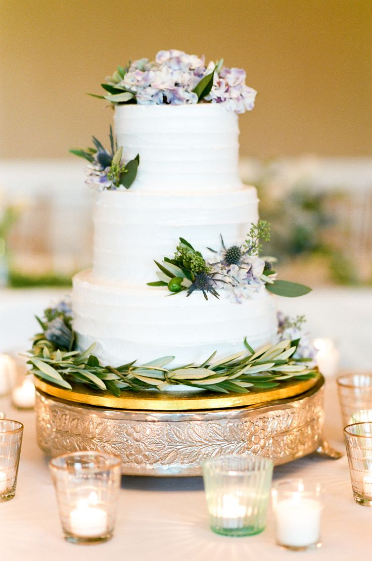 Three-Tier Combed Buttercream Wedding Cake