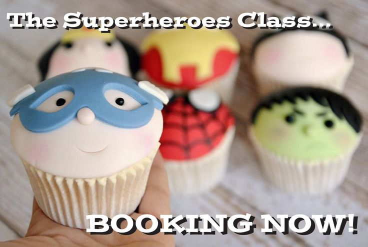 Cake Decorating Course Worthing : Superhero cupcakes. Captain america. The Hulk. Iron Man ...