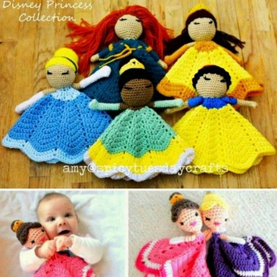 Disney Princess Collection Lovey Crochet Blanket - find free patterns in our post