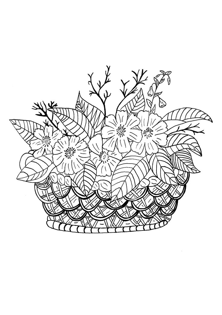 Top 6413 ideas about para colorear on pinterest dovers for Flower crown coloring page