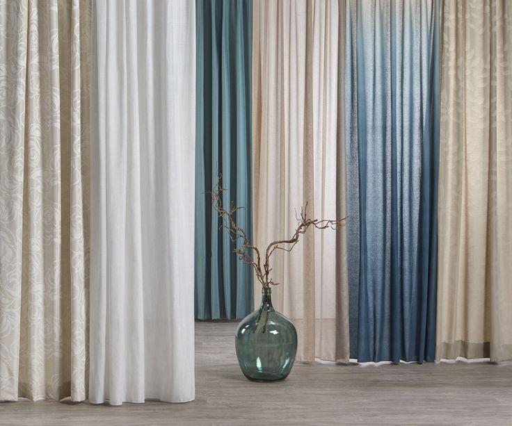 Houd jij je gordijnen graag rustig? Dan zijn blauw en natuurtinten echt wat voor jou! #kwantumbelgie #gordijnen #raamdecoratie #blauw