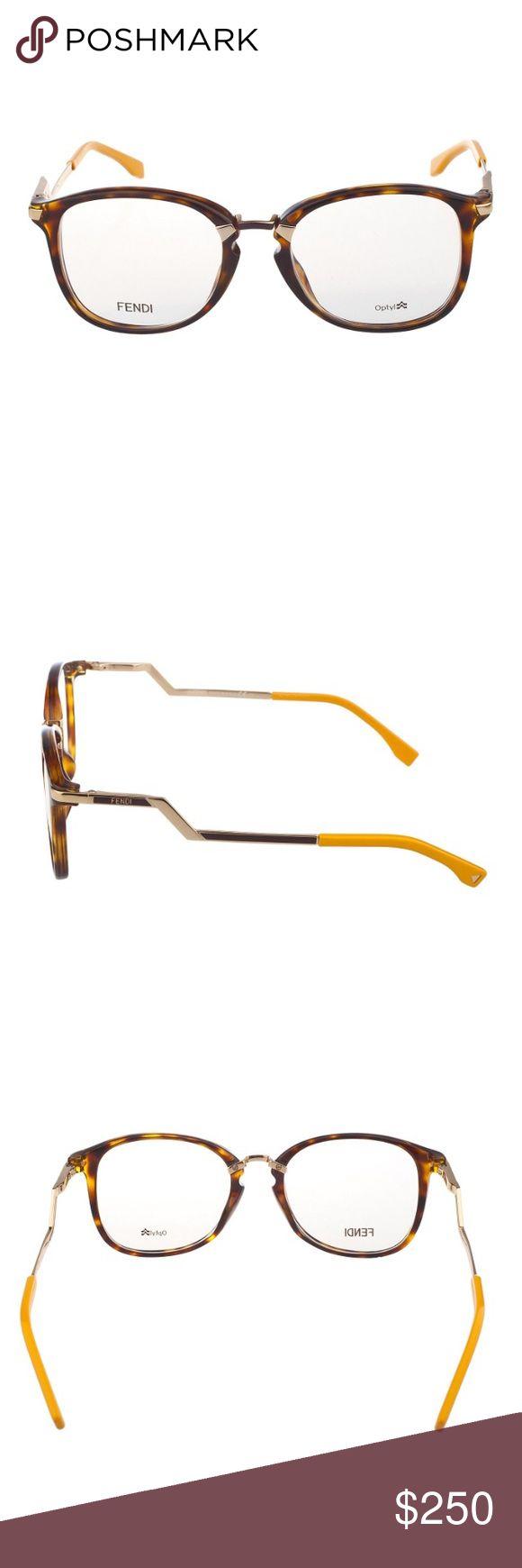 New Fendi glasses New Fendi glasses Havana gold Clear lens 0zcz 00 Fendi Accessories Glasses