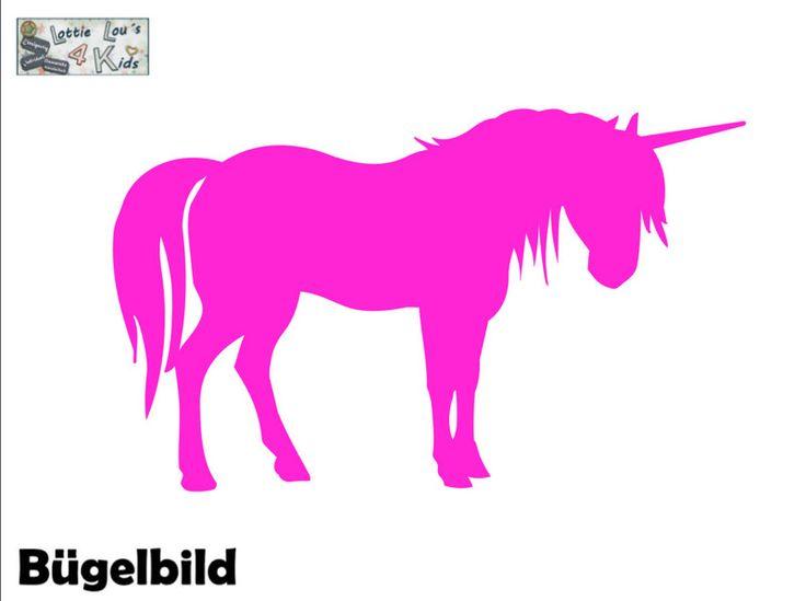 Bügelbilder - Bügelbild Einhorn Unicorn Wunschfarbe - ein Designerstück von Shana170 bei DaWanda
