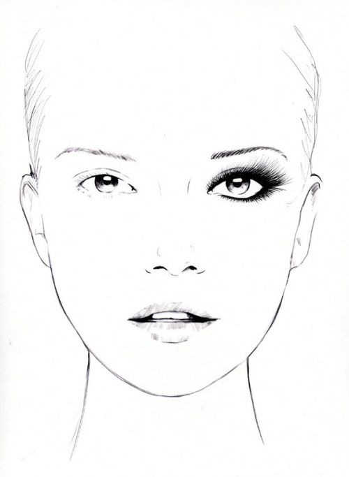 103 Best Draw Face Images On Pinterest | Draw Faces Drawing Faces And Beauty Products