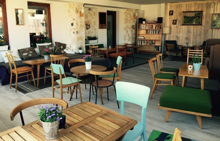 retro modern cafe
