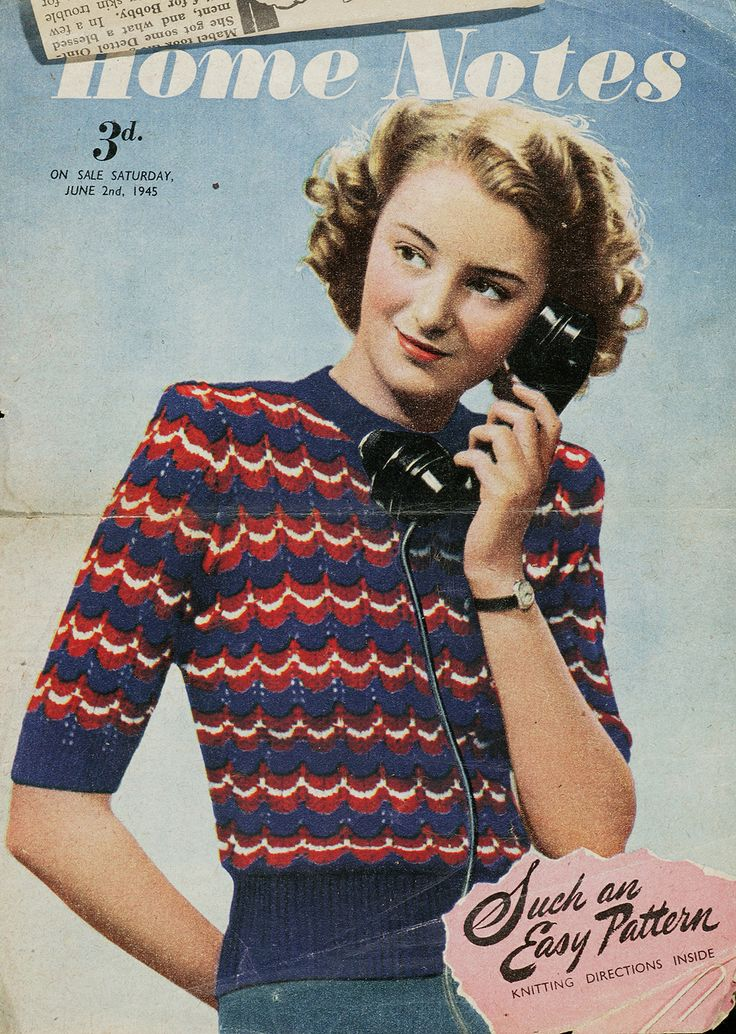 'Your Victory Jumper', from Home Notes, 2 June 1945  http://www.vam.ac.uk/users/node/1744