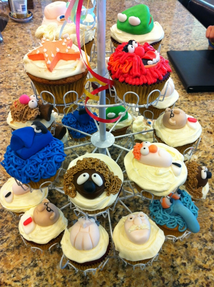 Muppet cupcakes I made for my twins birthday.  They were a hit.