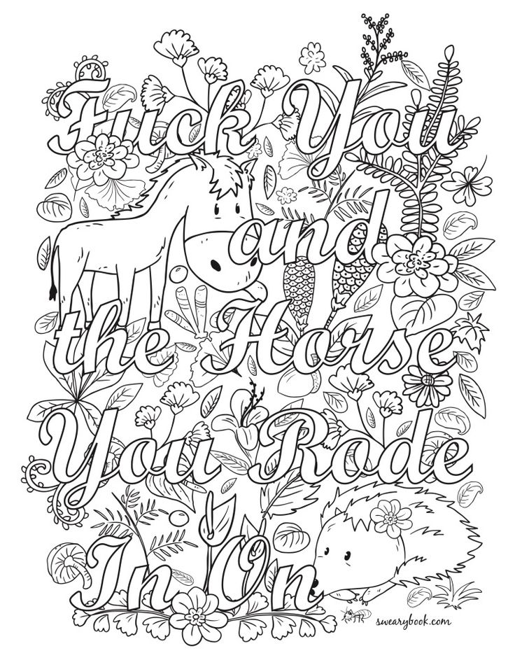 418 best swear words images on pinterest coloring books mother nature coloring pages