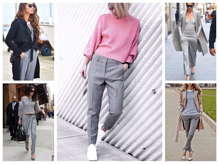 С чем носить серые брюки? - Сочетание цветов в одежде.