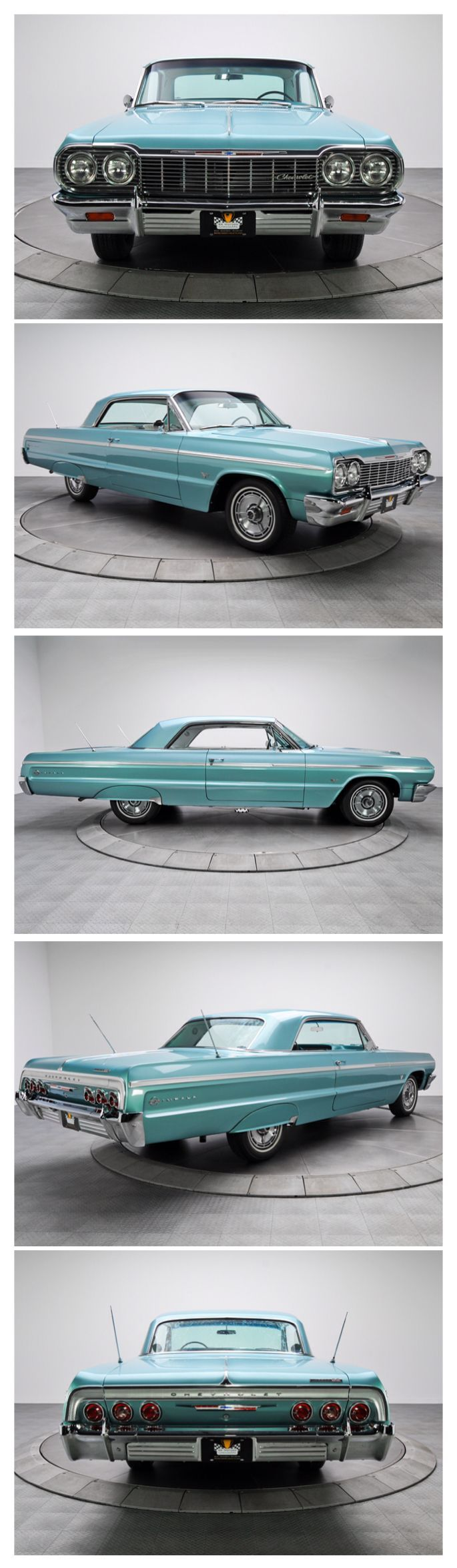 1964 Chevy Impala SS.  As an 8 yr old little girl THIS was THE 1st car I ever took notice of and what started my love for cars.  I'd get excited when my daddy brought home a new car and I'd run out to see every inch of it.  I loved watching my daddy work on his cars.  =D #chevroletimpala1968