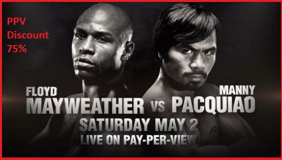 Floyd Mayweather and Manny Pacquiao can not hide their enthusiasm to welcome such game. And the mega boxing match is almost there. Watch  Mayweather Vs Pacquiao Live stream PPV Boxing Tonight All access Order Online off 75% Offer The regular Price .So,friends  Don't Miss The event Satellite Direct Tv  Website  Link  http://pacquiaovsmayweatherlive.ninja/2015/04/30/ppv-discount-75-mayeather-vs-pacquiao-2015-live-stream/