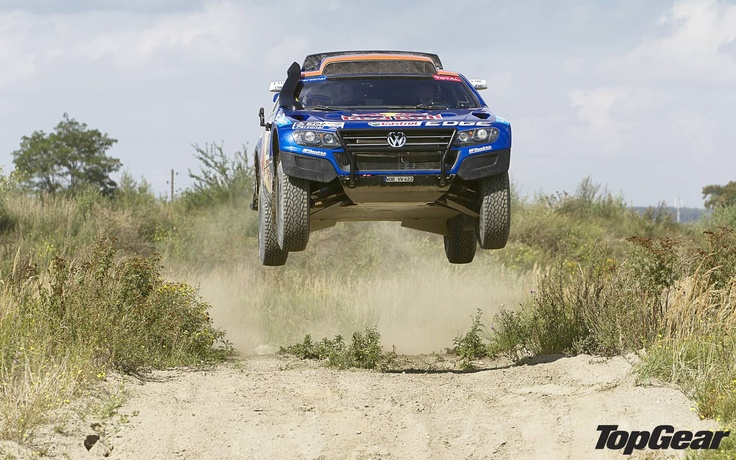 Dakar Rally Volkswagen Touareg courtesy of Top Gear UK