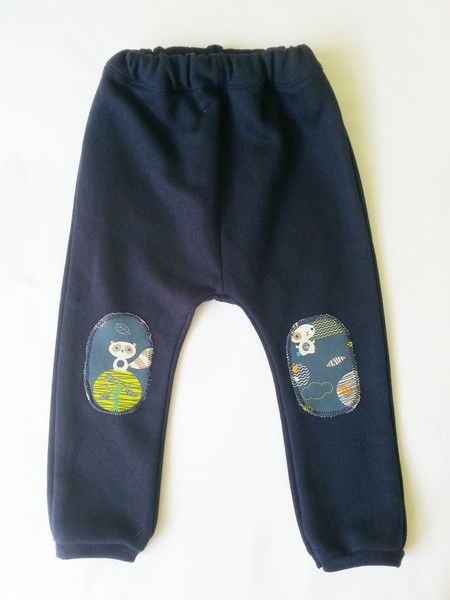 Spodnie Baggy z łatkami ROZ.80 !! HIT !! w Millu Kids na DaWanda.com