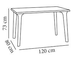 Resultado de imagen para medidas mesa rectangular