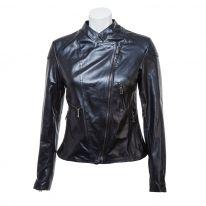 Obrázek Dámská kožená bunda se zipy 696199 Baťa