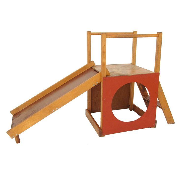 Adorable Modernist 'Creative Playthings' Children's Slide/Fort