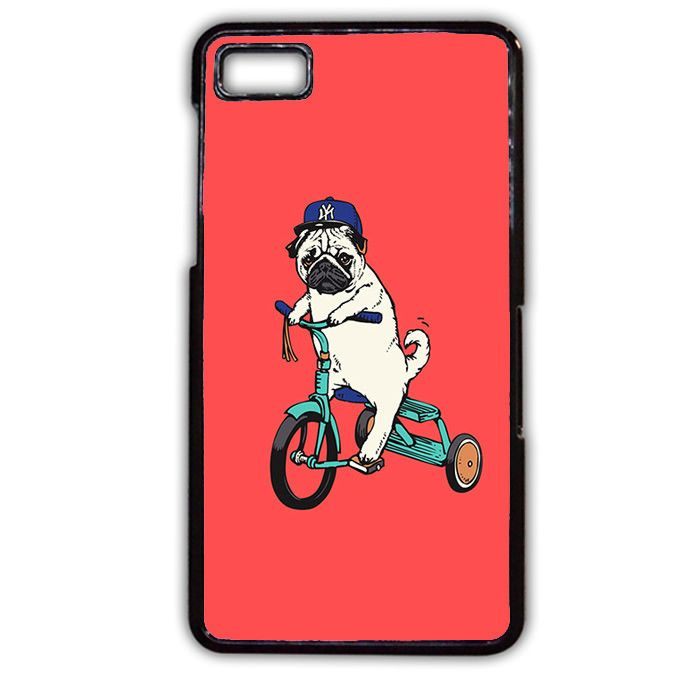 Pug Bicycle Phonecase Cover Case For Blackberry Q10 Blackberry Z10