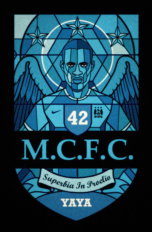 Football religion by David Flanagan, via Behance