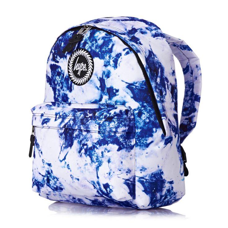 Hype Backpacks - Hype Larimar Backpack - White/Blue