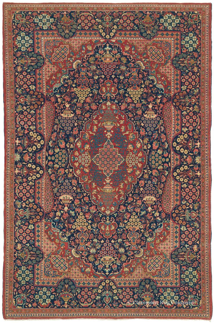 DABIR KASHAN, Central Persian 4ft 7in x 6ft 10in Circa 1900