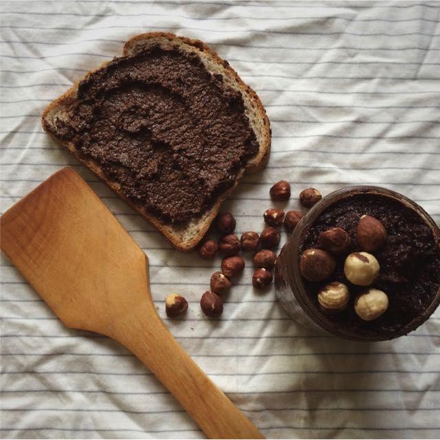 Chocolate hazelnut spread. Way lower sugar than the popular brand: http://kristenyarker.com/blog/healthier-chocolate-nut-spread