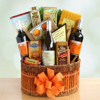 49 best gifts for business associates images on pinterest basket for our california vines wine gift basket we include three distinctive bottles of wine we surround the chardonnay sauvignon blanc and the cabernet with negle Gallery