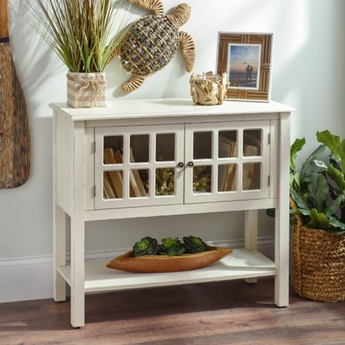 Cream Window Pane Console Table | Kirkland home decor ...