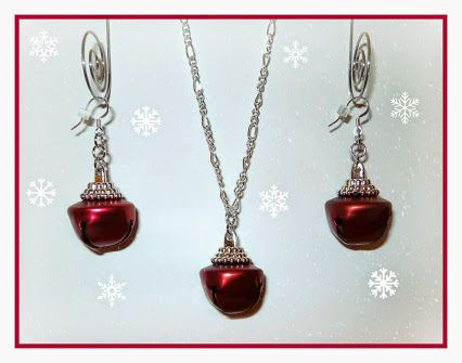 Jingle Bells, Jingle Bells, Jingle All the Way......  Ho Ho Ho and Merry Christmas Stocking Stuffers!  Jingle Bell Necklace and Earring Set for only $9.50 from Studio 3B!  http://www.studio3b.etsy.com